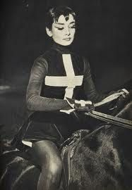 Audrey Hepburn at the circus show of the Ringling brothers in NY.