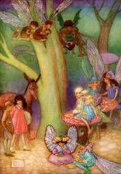 Come along, Mortals, said Skygold - The Password to Fairyland by Elizabeth Southwart, 1920