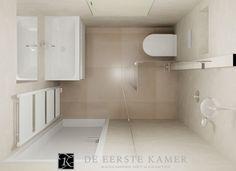 Kleine badkamer met trendy tegels - Kleine badkamers | Kawalerka ...