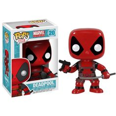 Get the Merc with a Mouth as an adorable stylized Pop! The Deadpool Marvel Pop! Vinyl Bobble Head features one of the wackiest and funniest characters to ever hit the pages of Marvel Comics, Deadpool, as a 3 tall bobble head. Funko Pop Marvel, Deadpool Funko Pop, Marvel Pop Vinyl, Deadpool Stuff, Spiderman Pop Vinyl, Deadpool Movie, Marvel Marvel, Pop Figurine, Friends With Benefits