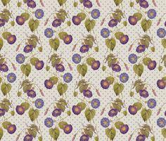 Morning Glories fabric by chantal_pare on Spoonflower - custom fabric