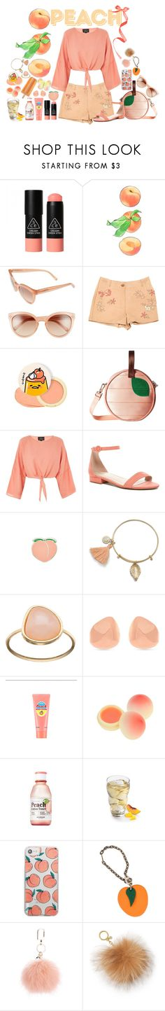 """""""PEACH"""" by beanieboot ❤ liked on Polyvore featuring 3 Concept Eyes, Chloé, Missoni, Harveys, Topshop, ALDO, PINTRILL, LC Lauren Conrad, Vince Camuto and SkinCare"""