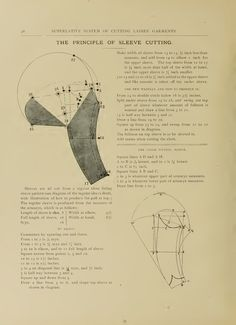 What We Did When The Power Went Out (Sewing In Walden): The principles of sleeve cutting (1897)