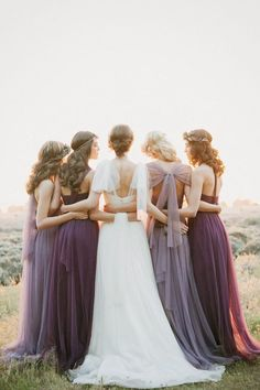 Romantic bridesmaids dresses by @jennyyoo via @nordstrom (photo by This Modern Romance)