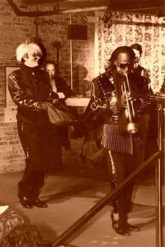 Andy Warhol & Miles Davis