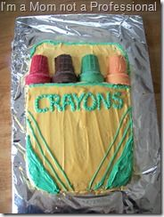 Very cute birthday cake! My son would love a crayon themed birthday party :) Crayon Birthday Parties, Cute Birthday Cakes, Birthday Party Themes, Birthday Ideas, 3rd Birthday, Fun Cupcakes, Cupcake Cakes, Crayon Cake, Art Party Cakes
