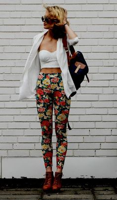 Floral Leggings & Lace Bustiers