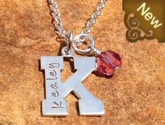 Bella Merce - Personalized Initial Pendant Necklace, $58.00 (http://www.bellamerce.com/personalized-initial-pendant-necklace/)