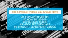 The 5 Product Videos You Should Have for your Business