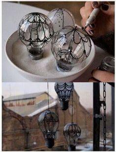 Lampadine trasformate!presa da fb