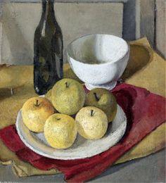"""Nella MARCHESINI (Italian, 1901 - 1953) - """"Natura morta con mele"""" (Still life with apples), 1929"""