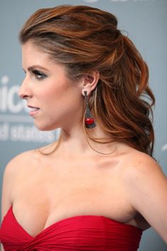 For a messy-yet-completely-styled updo, search no further than this look by Anna Kendrick. But do note—it'll probably take some help and lots of hairspray.