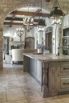 Rustic Italian Tuscan Style for Interior Decorations 24 Rus., Rustic Italian Tuscan Style for Interior Decorations 24 Rus. Küchen Design, Design Case, Design Room, Blue Design, Design Elements, Design Hotel, Design Concepts, Sweet Home, Tuscan House