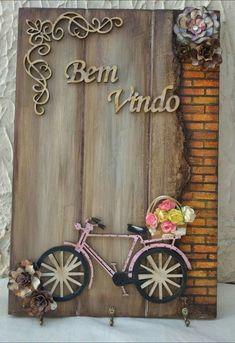 Decoupage Vintage, Decoupage Art, Mixed Media Canvas, Mixed Media Art, Name Plate Design, Painted Mailboxes, Handmade Birthday Cards, Felt Art, Clay Art