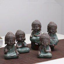 Decoração da casa pequeno Buda estátuas estatueta monge Ge kiln chá pet roxo enfeites de cerâmica artesanato de cerâmica decorativa Lulai Buddha Baby Buddha, Little Buddha, Buddha Art, Buddha Statues, Garden Sculpture, Guanyin, Aliexpress, Cool Stuff, Ceramic Tile Crafts
