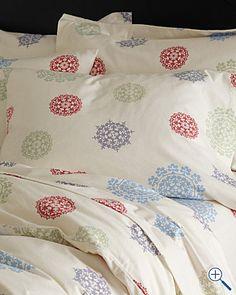 Snowflake Suzani Supima Flannel Bedding $36+