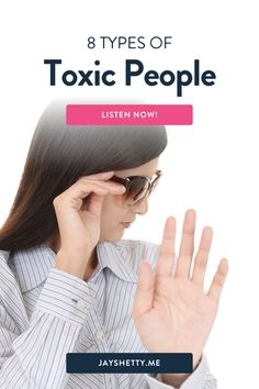 Jay Shetty talks about toxic people and how to set stronger boundaries. Jay discusses 8 types of toxic people and the 5 steps to take to set boundaries in all of your relationships. I'm Jay Shetty - an author, podcast host, former monk, and purpose coach. My vision is to make wisdom go viral in an accessible, relevant, & practical way. Negative People, Negative Emotions, Removing Negative Energy, Think Deeply, Train Your Mind, Spiritual Wisdom, Toxic People, Toxic Relationships, Change My Life