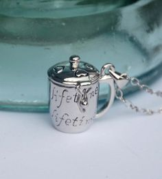 Tea Cup Locket Solid Perfume or Lip Balm by GlassHouseSupplies, $6.95