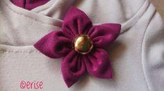 Tutoriel: Fleur en tissu – Cerise