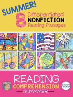Eight differentiated nonfiction reading comprehension passages with summer themes! This is a perfect resource to integrate art and language arts. Easy for teachers, fun for kids! Students are always asking for more! Reading Comprehension Worksheets, Reading Passages, Independence Day Activities, Nonfiction Text Features, Drawing Conclusions, Kids Reading, Reading Books, Creative Thinking, Language Arts