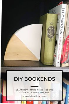 When I was looking for bookends to complete my bookshelf, I couldn't find anything that was as modern or as fun as I wanted them to be. So, I decided to make my own! The best part is, these were totally free! I just used spare materials that I had around the house. Check out the blog post to see how I did it.