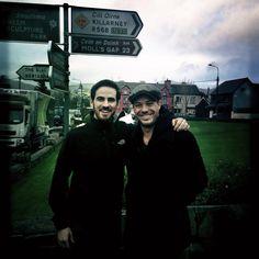 """MichaelRaymond-James via Twitter 31 Dec 2014 - """"With @colinodonoghue1 in Ireland. Tight like Peaky Blinders"""""""