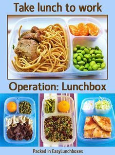 Lunches for Work including pasta, healthy grains, pizza, chicken and beef. Adult lunches to look forward to..