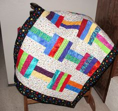 Stars Baby Quilt Gender Neutral Baby Quilt by QuiltSewPieceful