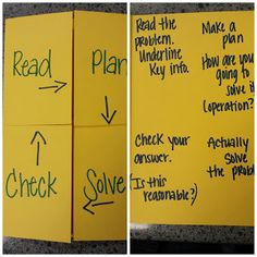 Problem Solving Foldable! You can use this for pretty much every subject.