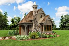 Whimsical Cottage House Plan - 69531AM - 13 Cabin House Plans, Cottage Floor Plans, Tiny House Cabin, House With Porch, Tiny House Plans, Architectural Design House Plans, Architecture Design, Cute Small Houses, Tiny Houses
