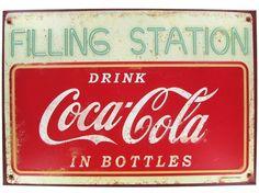 Coca-Cola Filling Station Tin Sign