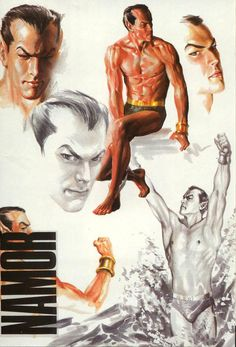 In a decade bombarded with Image upstarts, we had Marvels. I know Alex Ross loves DC superheroes more, and it shows in Kingdom Come and other DC projects. But I guess I'll never forget Marvels in which I get blown away by the art of Alex Ross for the first time. I particularly liked the sketches in Marvels issue 0, like this Namor page. We were like, those are sketches!? Using markers!? Gah.