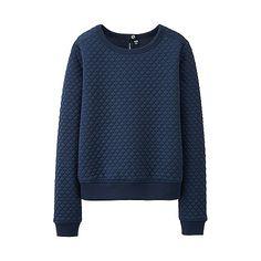 WOMEN Quilt Long Sleeve Pullover