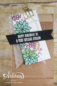 Oh So Succulents, Stampin' Up! Create this fun gift packaging for any occasion.