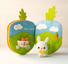 Carrot book. Bunny orchard activity book by Noialand on Etsy