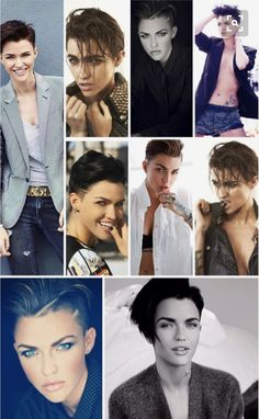Pure Beauty, Ruby Rose Hairstyles, Cute Hairstyles, Tomboy Hairstyles, Tomboys, Androgynous Fashion, Androgyny, Short Haircut, Orange Is The New Black