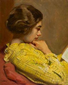 Sidney Edward Dickinson (American, 1890-1960) - Woman Reading,1936