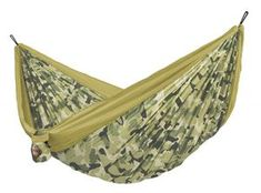 LA SIESTA Colibri Camo Forest Parachute Silk Double Travel Hammock with Suspension >>> You can find more details by visiting the image link. Family Camping, Tent Camping, Outdoor Camping, Outdoor Gear, Camouflage, Outdoor Hammock, Hammocks, Indoor Outdoor, Forest Color
