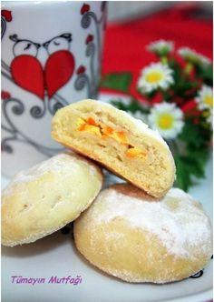 Labneli Portakallı Kurabiye   Tümayın Mutfağı - En İyi Yemek Tarifleri Sitesi Turkish Cookies, Cake Cookies, Biscotti, Crackers, Hamburger, Recipies, Bread, Food, Cookies