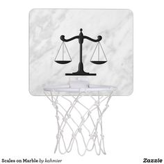 Scales on Marble Mini Basketball Backboard