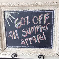 All of our summer apparel is 60% off! We close at 5 today! #shoplbvb #LBVB #summersale #sale