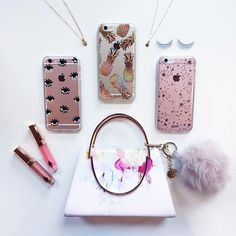@faulbahercomm HOTLING BLING ☎️ with our Evil Eye (Pink Tint), Liana (Peach), and Seeing Stars (Pink Tint) case!