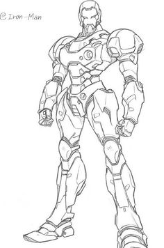 Iron Man The Avengers - Best Coloring pages