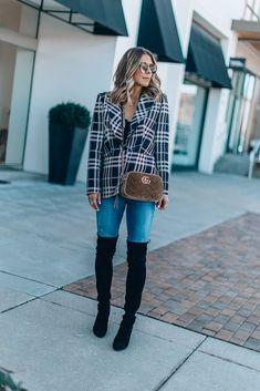 Favorite Designer Handbag of the Season (Cella Jane) Cella Jane, Fall Bags, Cute Purses, Fall Winter Outfits, Your Girl, Designer Handbags, Black Suede, Plaid, Seasons