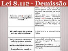 Direito Administrativo- Lei 8.112 ( Demissão ) #Direito #DireitoAdministrativo