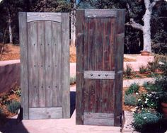 OOOOooo!!!like this! I'm currently making a door:) IDEA!!  http://www.pinterest.com/RusticFarmhouse/i-found-a-bunch-of-railroad-tiesnow-what/