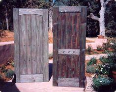 OOOOooo!!!like this! I'm currently making a door:) IDEA!!  http://www.pinterest.com/RusticFarmhouse/i-found-a-bunch-of-railroad-tiesnow-what/