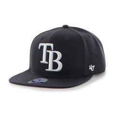 Tampa Bay Rays Sure Shot Navy 47 Brand Adjustable Hat 55382979da3e