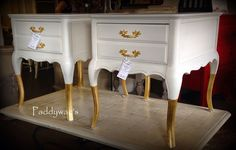 Gold dipped and Pure White  #Chalk Paint® Decorative Paint by Annie Sloan