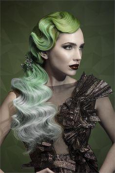 21 Hair Color Transformations by Guy Tang - Inspiration - Modern Salon Creative Hairstyles, Unique Hairstyles, Pelo Editorial, Beauty Editorial, Estilo Gatsby, Finger Wave Hair, Corte Y Color, Fantasy Hair, Fantasy Makeup